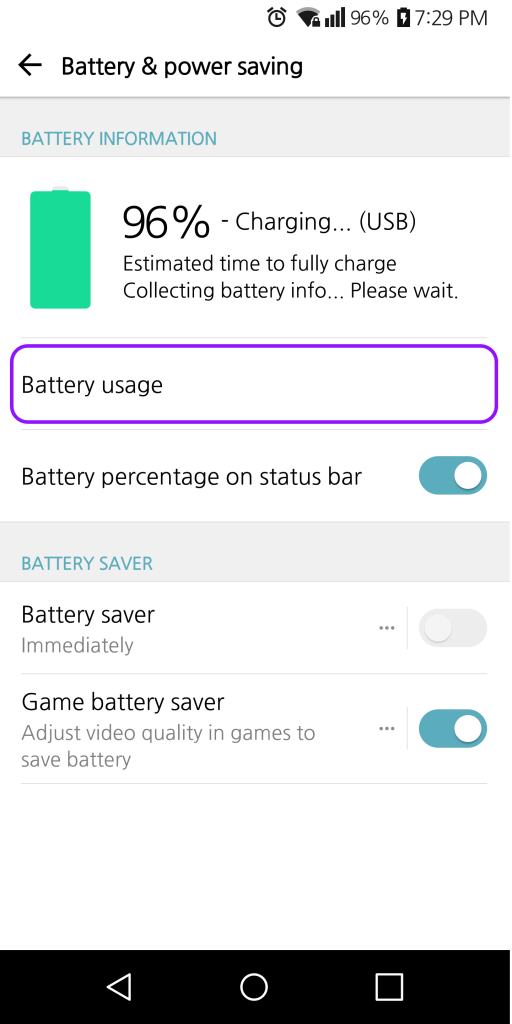 How to turn off battery optimization on the LG Android 7