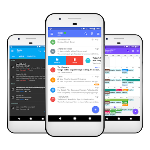 Android Q Calendario.Nine A Website For Mobile Exchange Email Client